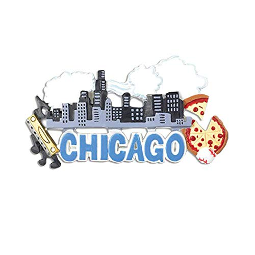 Personalized Chicago Christmas Tree Ornament 2019 - Illinois State Lake Michigan Wills Tower Tribune Holiday Travel Tourist Away Souvenir Love First Visit Brass Band Pizza - Free Customization