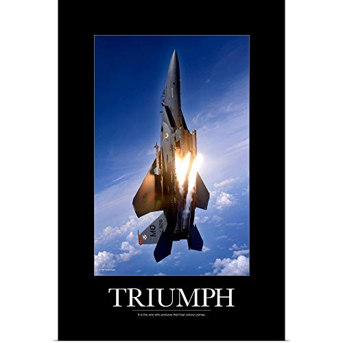 - GREATBIGCANVAS Poster Print Entitled Motivational Poster: an F-15E Strike Eagle pops Flares by Kate Lillyson 12
