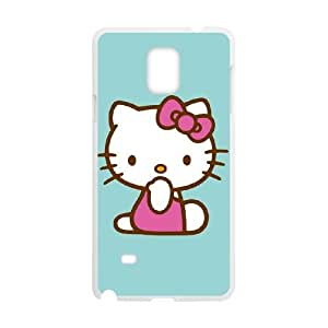 Samsung Galaxy Note 4 Cell Phone Case White Hello Kitty Blue Background SUX_873198