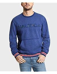 Nautica - Sudadera de Manga Larga con Cuello Redondo y Forro Polar para Hombre