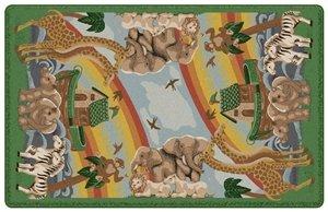 Flagship Carpet Children Learning Floor Playmat Nylon Noah'S Journey (Tranquility) - 5'10'' x 8'4'' by Flagship Carpets