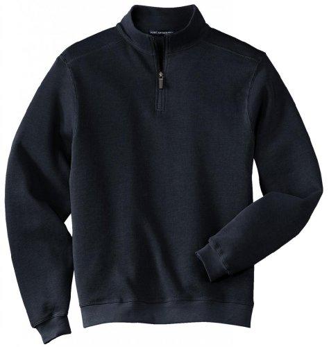 Port Authority®- Flatback Rib 1/4-Zip Pullover, Navy, 4XL