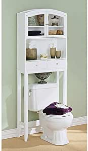 Amazon.com: White Arch Top Over Toilet Cabinet: Kitchen & Dining
