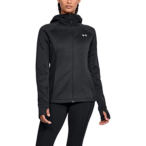 Under Armour Women's Swacket 3.0, Black (001)/Tonal, Medium (Women Under Armour Jacket)