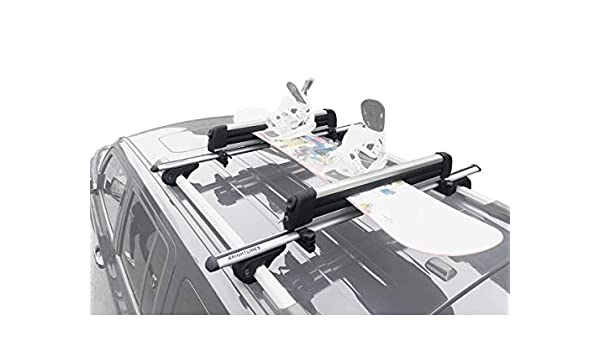 BRIGHTLINES Crossbars /& Ski Rack for up to 6 Skis or 4 Snowboards Combo Compatible with 1998-2017 Mercedes Benz ML350 GL350