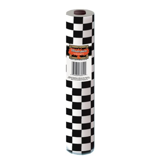 Checkered Table Roll (black & white) Party Accessory  (1 count) (1/Pkg)