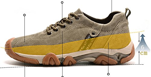 Khaki Schuhe Herren Suede Imitation ailishabroy Flats Schnüren Zoll Man Aufzug Beiläufig Leder Mode Sneaker 2 36 Herrenschuhe SRIqwnAa