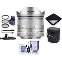 Venus Laowa 7.5mm f/2 Lens Lightweight for Micro Four Thirds Mount, Silver - Bundle With 46mm Filter Kit, Lens Case, Cleaning Kit, Lens Wrap, Capleash II, LensPen Lens Cleaner
