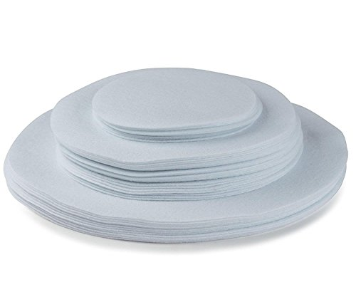 Felt Plate China Storage Dividers Protectors White Extra Large Thick and Premium Soft Set Of 48 12-10.5