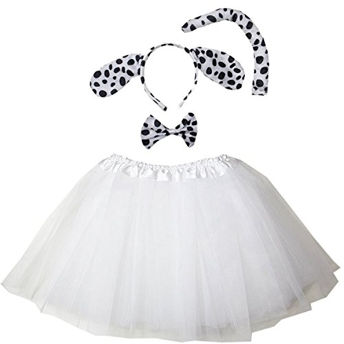 Kirei Sui Kids Costume Tutu Set Spotted Dog ()