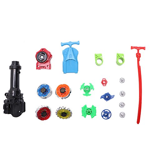 Stebcece New Fusion Top Metal Master Rapidity Fight Rare Beyblade 4D Launcher Grip Set -