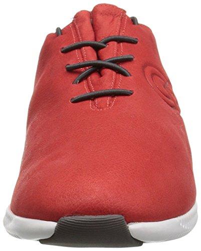 Cole Haan Womens 2.0 Studiogrand P & G Trainer Fashion Sneaker Gesmolten Lava Nubuck / Bestrating Leer / Optiek Wit