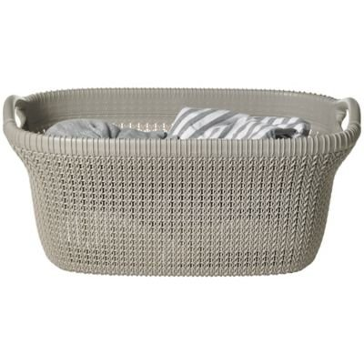 2bf638e4c102 High Quality Knit-Effect Cream Laundry Basket With Handles (40L):  Amazon.co.uk: Kitchen & Home