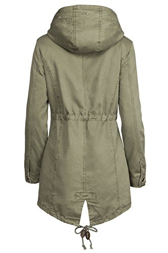 cf9df9614226 S West 3 in 1 Damen Winterjacke Baumwolle Teddy Fell Military Style Cotton  Parka Mantel  Amazon.de  Bekleidung