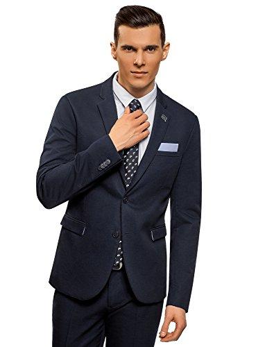oodji Ultra Men's Slim-Fit Classic Blazer