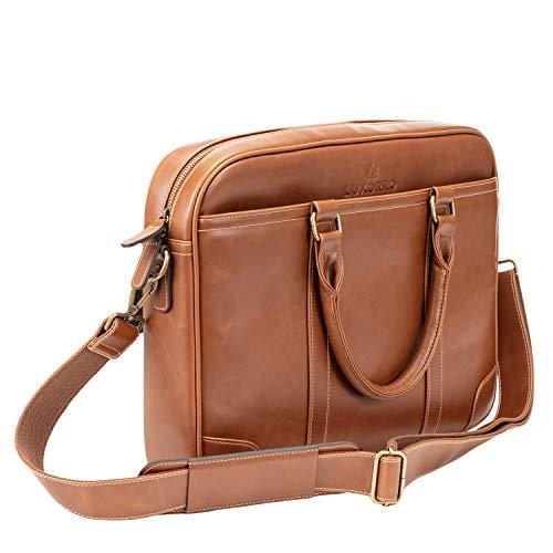 Luxorro Laptop Bag For Men   Soft, Messenger Bag