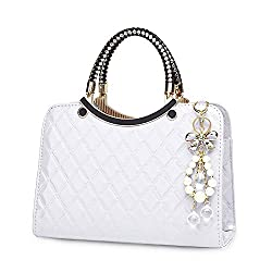 Shiny Patent Leather Handbags for Women With Top Handle