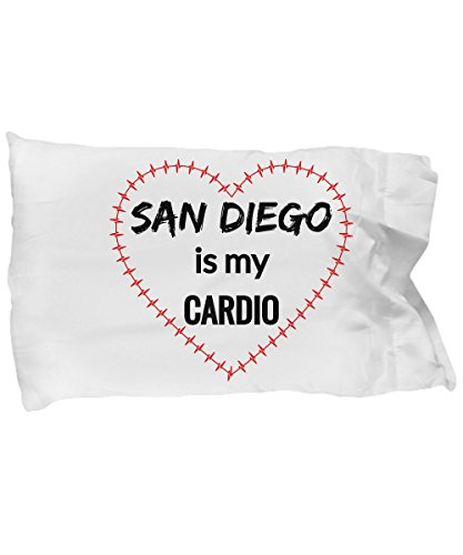 eShopGear SAN DIEGO Pillow Case - San Diego is My Cardio -