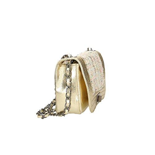 Chicca Borse Piel genuina bolso 20x13x8 Cm Oro