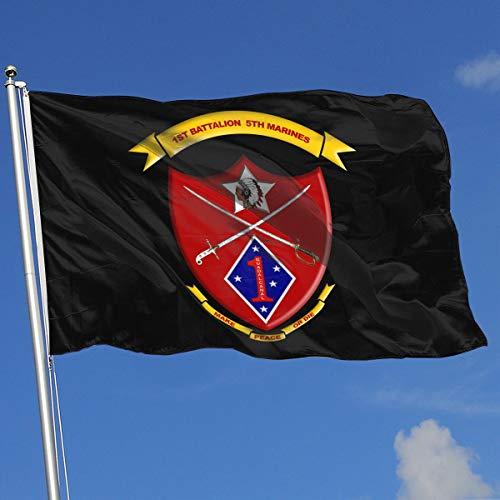 TJHJOL US 1st Battalion, 5th Marines Decal Sticker 3x5 Feet Flag for House