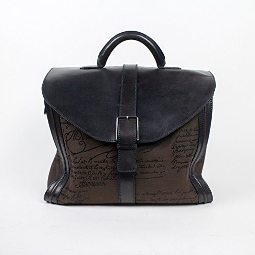 new-berluti-brown-black-leather-and-canvas-large-briefcase-bag