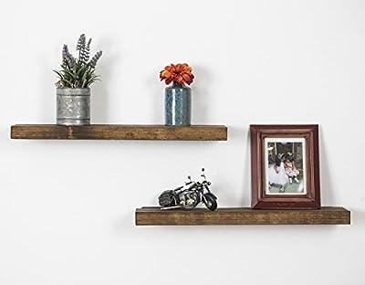 Rustic Luxe True Floating Shelves