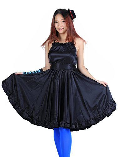 De-Cos K-On! Cosplay Costume - Akiyama Mio Dress 1st Version Set