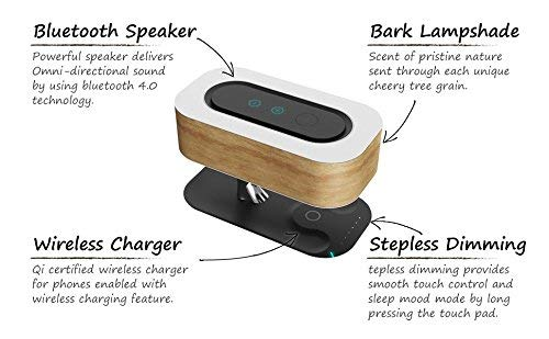 Buy Coral Tree Bedside Lamp With Bluetooth Speaker And Wireless Charger Table Lamp Desk Lamp With Sleep Mode Stepless Dimming With Usb Charging Port Online At Low Prices In India Amazon In