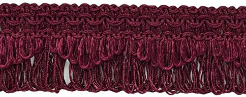 9.5M E10 |30 Ft D/ÉCOPRO 10 Yard Value Pack|Decorative Burgundy|Ruby Scalloped Loop Fringe//Braid|1 3//8 Inch|Style# 9115 Color J16