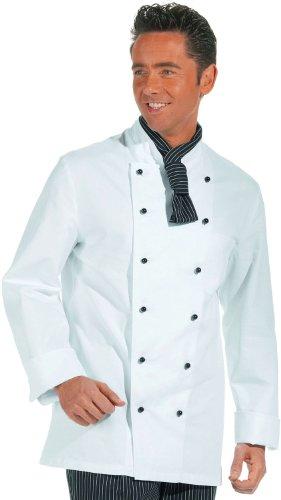 LEIBER Koch-Jacke - langarm - Lieferung ohne Knöpfe - weiß - Größe: 98