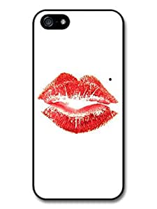 Marilyn Monroe Red Lipstick Kiss Vintage Illustration case for iPhone 5 5S