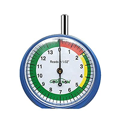 GODESON Dial Type Tire Tread Depth Gauge 88703 prefessional for Motorcycle, car,Truck and Bus: Automotive