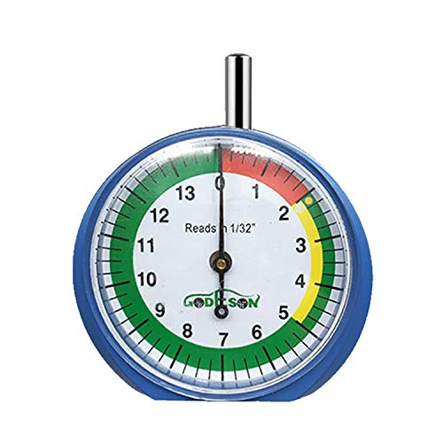 GODESON Dial Type Tire Tread Depth Gauge 88703 prefessional for Motorcycle, car,Truck and Bus (Best Tyre Tread Depth Gauge)