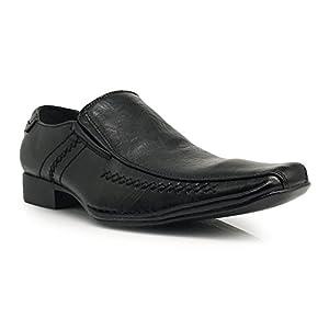 Sun02 Men's Dress Loafers Elastic Slip on Eagle Designer Fashion Dress Shoes