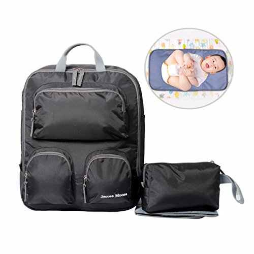 Jocose Moose Baby Diaper Bag Backpack with Changing Mat and Cosmetic Bag    Insulated Pocket Waterproof fdd67d1c0591