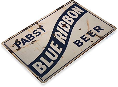 (Tinworld Tin Sign Pabst Blue Ribbon Rustic Retro Beer Metal Sign Decor Pub Bar Cave A549)