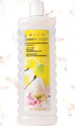 Avon Bubble Delight Lily & Honeysuckle Blossom Bubble Bath 24 Oz.