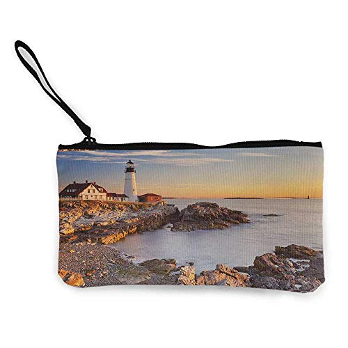 United States Cosmetic Bags Aerial York City Town World North Capital ImageWallet Coin Purses Clutch Beige Tan