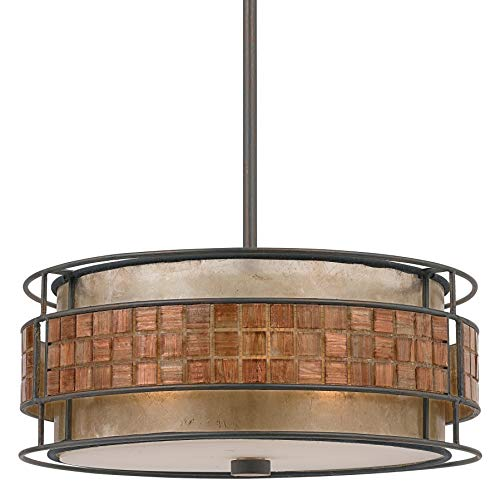 "Quoizel MC842CRC Laguna Mica Drum Pendant Lighting, 3-Light, 180 Watts, Renaissance Copper (7"" H x 16"" W) from Quoizel"