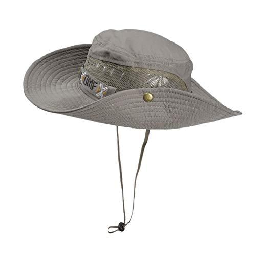 (OSTELY Men's Fisherman Hat Fishing Hat Mountaineering Hat Big Hat Foldable Sunscreen Visor Sun Hat(Coffee))