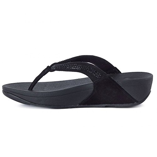 Fitflop Crystal Swirl Tm, Chanclas para Mujer Negro