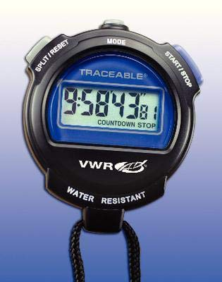 62379-218EA - Description : Single-Line Display - VWR Extra-Large LCD Digital Stopwatches - Each