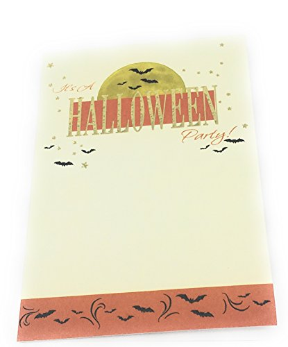 (Bark & Lindy Halloween Party Invitation Gold Embossed (Pack of 8) for Children, Teens and)
