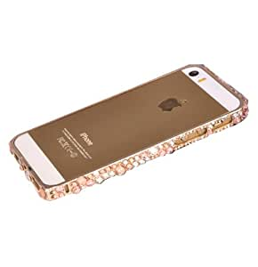 The New Apple Phone Shell Protective Sleeve Iphone5s Metal Frame Diamond Wholesale Diamond 4s Case (iphone4s-Champagne)