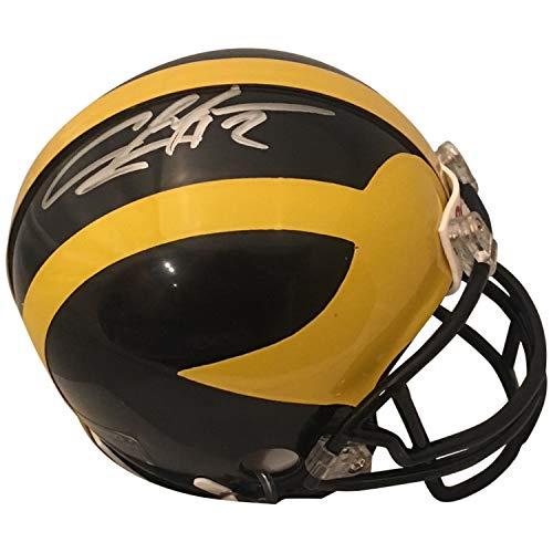 Charles Woodson Autographed Michigan Wolverines Signed Football Mini Helmet GTSM JSA COA