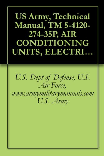 US Army, Technical Manual, TM 5-4120-274-35P, AIR CONDITIONING UNITS, ELECTRIC MOTOR D 9,000 BTU/HR, VERTICAL COMPACT, 115 V, SINGLE PHASE, 50/60 HZ, ( ... (4120-935-1611), military manuals