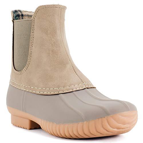 Avanti Women's Rocky Duck Style Heeled Rain Boots - Stone - Size 8 -