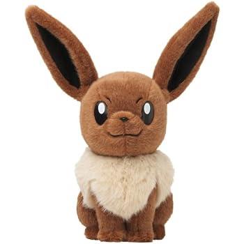 the pokemon center original stuffed animal life size eevee toys games. Black Bedroom Furniture Sets. Home Design Ideas