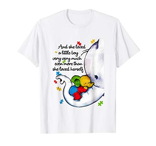 Womens She Loved A Little Boy Very Much Autism Elephant Mom