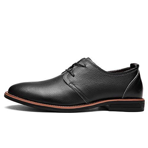 Noir 42 EU Meilleures ventes Chaussures Oxford Chaussures Oxford pour hommes Chaussures formelles confortables à lacets Style OX Cuir Mode Britannique Style Simple Couleur Pure Robe Oxford Chaussures